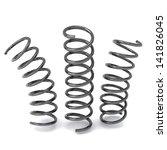 metal springs 3d | Shutterstock . vector #141826045