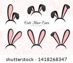 hare ears costume  bunny ears... | Shutterstock . vector #1418268347