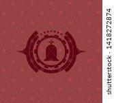 tombstone icon inside retro... | Shutterstock .eps vector #1418272874