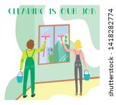 banner concept for professional ... | Shutterstock .eps vector #1418282774