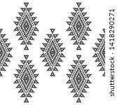 ethnic boho seamless pattern....   Shutterstock .eps vector #1418290271