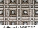 Detail Of The Ceiling On A...