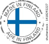 made in finland flag grunge icon | Shutterstock .eps vector #1418292227