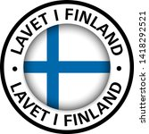 made in finland flag icon | Shutterstock .eps vector #1418292521