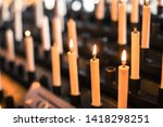 color image of rows of candles... | Shutterstock . vector #1418298251