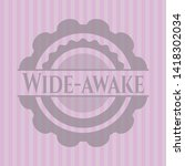 Wide-awake pink emblem. Retro. Vector Illustration. Detailed.