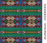 african repeat pattern.... | Shutterstock . vector #1418304341