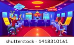 casino with people gambling... | Shutterstock .eps vector #1418310161