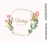 vector illustration of a floral ... | Shutterstock .eps vector #1418335994
