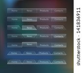 100  transparent web design... | Shutterstock .eps vector #141836911
