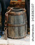 Vintage Wooden Barrel Or Bucket ...