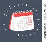 cartoon vector illustration of... | Shutterstock .eps vector #1418393354