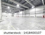 interior of empty warehouse... | Shutterstock . vector #1418400107