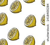 seamless summer pattern with... | Shutterstock .eps vector #1418400284