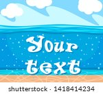 seabed background for your text.... | Shutterstock .eps vector #1418414234