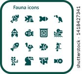 fauna icon set. 16 filled fauna ... | Shutterstock .eps vector #1418427341