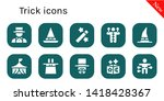 trick icon set. 10 filled trick ... | Shutterstock .eps vector #1418428367