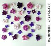 Square Violet Flat Arrangement...