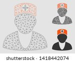 mesh doctor model with triangle ... | Shutterstock .eps vector #1418442074