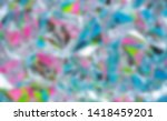 rainbow colored abstract... | Shutterstock . vector #1418459201