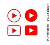 play button video icon vector... | Shutterstock .eps vector #1418518094