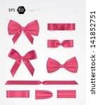 vector bow collection | Shutterstock .eps vector #141852751