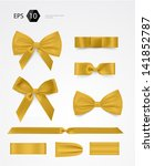 vector bow collection | Shutterstock .eps vector #141852787
