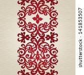 vector seamless border with... | Shutterstock .eps vector #141853507