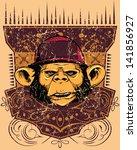 monkey rapper  also available... | Shutterstock .eps vector #141856927
