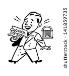 man receiving check   retro... | Shutterstock .eps vector #141859735