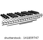 piano keys   retro clip art... | Shutterstock .eps vector #141859747