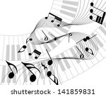 musical note staff. eps 10... | Shutterstock .eps vector #141859831