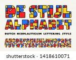 de stijl alphabet is a... | Shutterstock .eps vector #1418610071