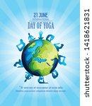illustration of 21 june... | Shutterstock .eps vector #1418621831