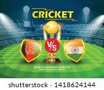 afghanistan vs india cricket... | Shutterstock .eps vector #1418624144