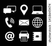 set communication icon logo... | Shutterstock .eps vector #1418645474