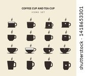 flat vector design coffee cup... | Shutterstock .eps vector #1418653301