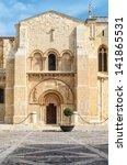 basilica of san isidoro   leon  ... | Shutterstock . vector #141865531