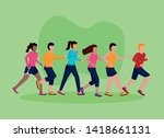 people competition healthy... | Shutterstock .eps vector #1418661131