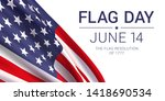 14th june   flag day in the... | Shutterstock .eps vector #1418690534
