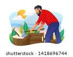 lumberjack vector concept...