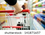 closeup of woman with shopping... | Shutterstock . vector #141871657
