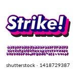 fun and bold font effect modern ... | Shutterstock .eps vector #1418729387