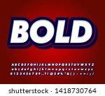 strong bold font effect  modern ... | Shutterstock .eps vector #1418730764