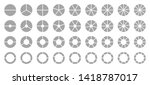 set of different round graphic... | Shutterstock .eps vector #1418787017