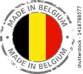 made in belgium flag grunge icon | Shutterstock .eps vector #1418788577