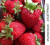 macro photo of strawberry berry ... | Shutterstock . vector #1418799647
