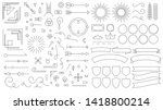 retro line emblem elements.... | Shutterstock .eps vector #1418800214