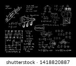 physical equations and formulas ... | Shutterstock .eps vector #1418820887