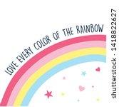hand drawing rainbow vector... | Shutterstock .eps vector #1418822627